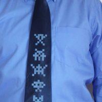 Alien Invaders Silk Tie