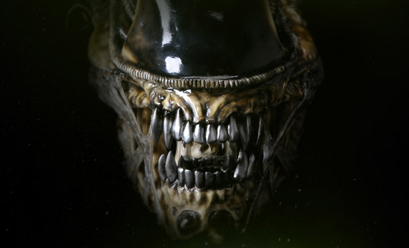 Alien Warrior Life-Size Head
