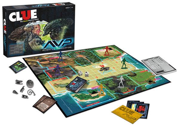 Alien vs Predator Clue Board Game