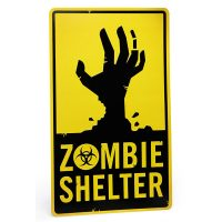 Aluminum Zombie Shelter Sign