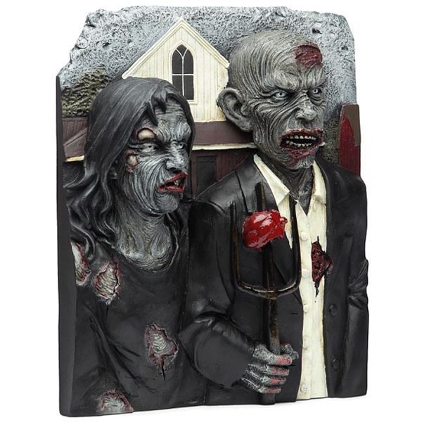 American Zombie Gothic 3D Wall Plaque