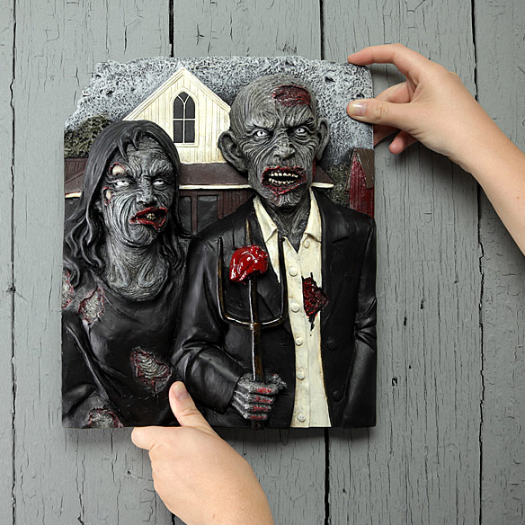 American Zombie Gothic Wall Plaque