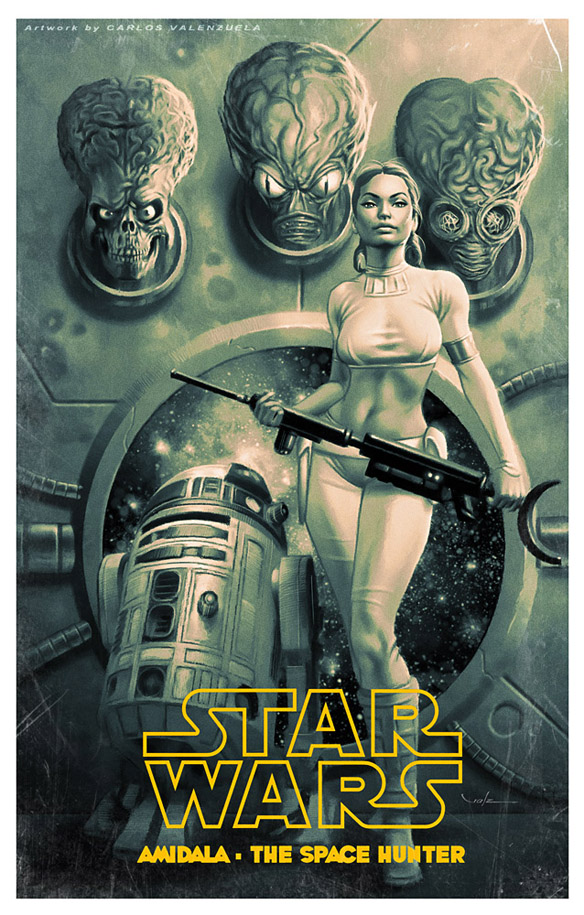 Amidala Space Hunter Art Print