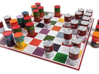Andy Warhol Campbells Soup Can Chess Set