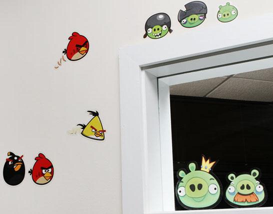 Angry Bird Wall Clings