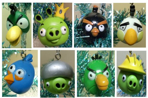 angry birds 16 piece holiday christmas tree ornament set. Black Bedroom Furniture Sets. Home Design Ideas