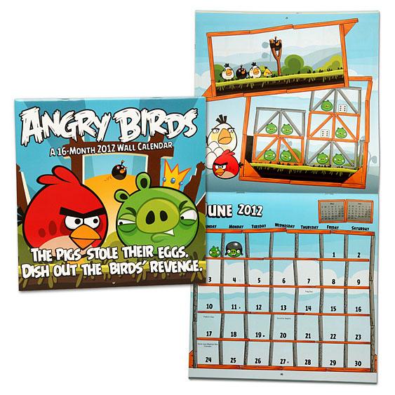 Angry Birds 2012 Calendar