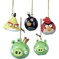 Angry Birds 5-Pack Mini Christmas Ornament Set
