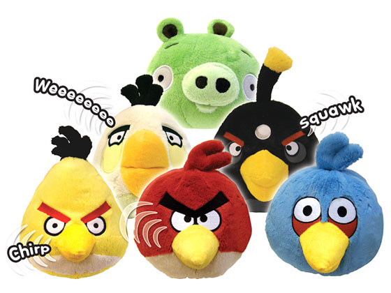 Angry Birds Stuffed Toys : Angry birds mini plush with sound