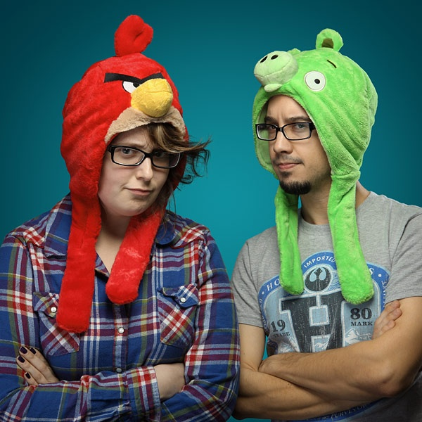 Angry Birds Plush Hats