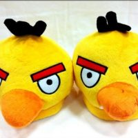 Yellow Angry Birds Plush Slippers