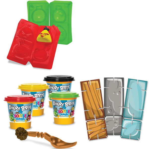 Angry Birds Soft Dough Character Maker Set