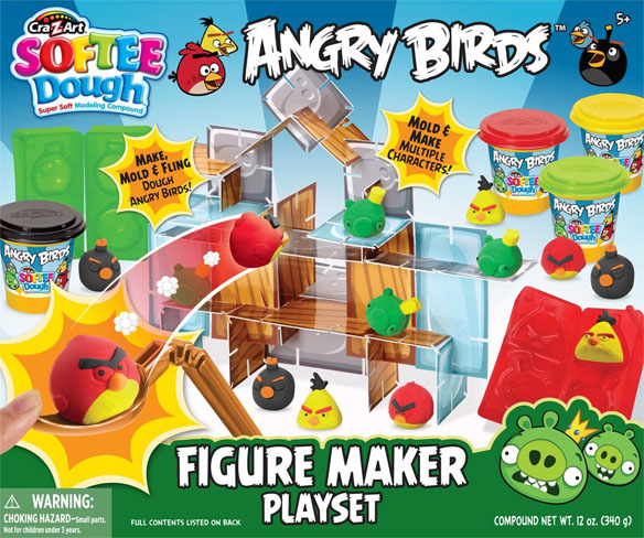 Angry Birds Softee Dough Character Maker Set