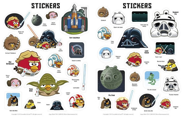 Angry Birds Star Wars Stickers