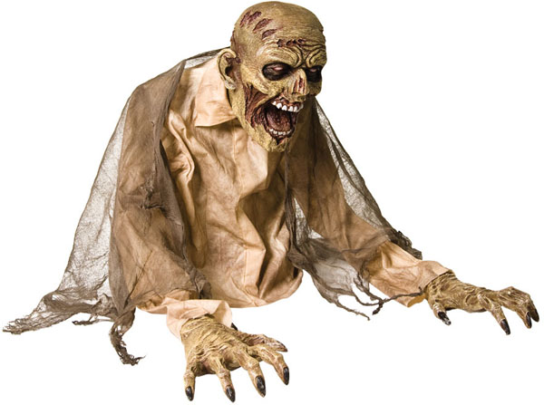 Animated Zombie Halloween Prop