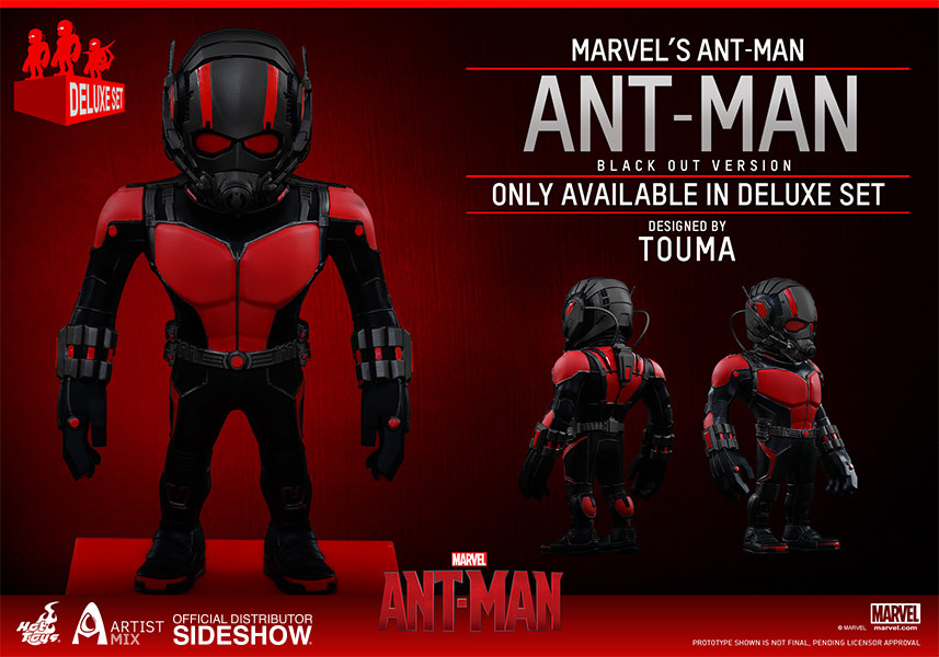Ant-Man Artist Mix Deluxe Set of 3 Collectible Set exclusive blackout version