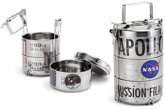 Apollo 11 Mission Film Reel Canister Lunch Box
