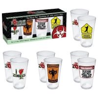 Aquarius Zombie Pint Glass Set