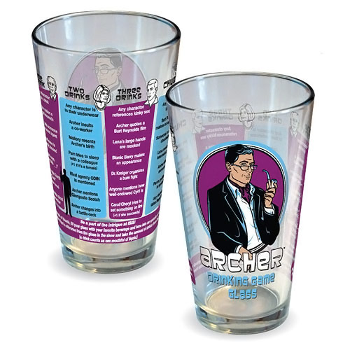 Archer Drinking Game Pint Glass