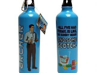 Archer Scotch & Gummy Bears Water Bottle