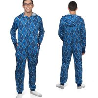 Argyle TARDIS and Sonic Screwdriver Adult Onsie Pajamas