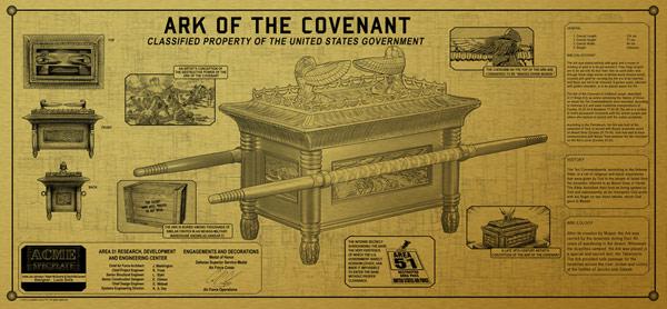 Ark of the Covenant Golden Spec Plate
