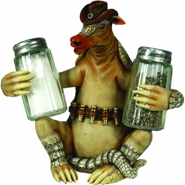 Armadillo Salt And Pepper Shaker Holder
