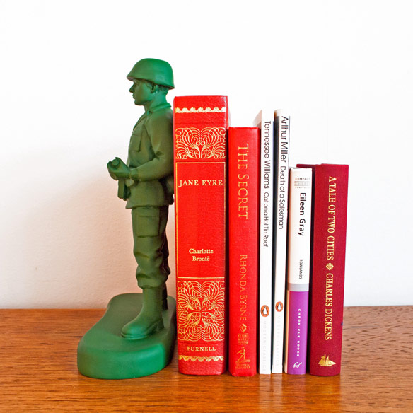 Army Man Bookends