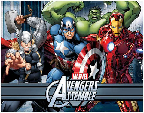 Avengers Ready to Fight Stretched Canvas Print