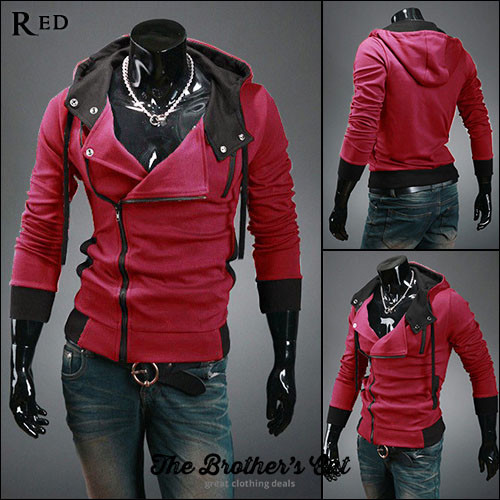 Assassins Creed-Inspired Hoodies - Red