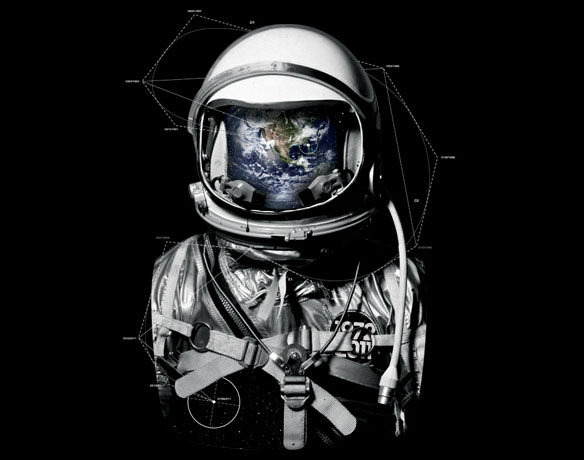Astronaut in Outer Space T-Shirt