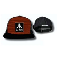 Atari Wood Grain Logo Trucker Hat