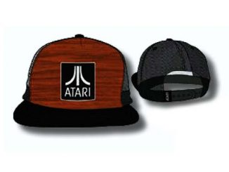 Atari Wood Grain Logo Trucker Hat
