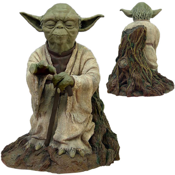 star wars yoda using the force statue. Black Bedroom Furniture Sets. Home Design Ideas