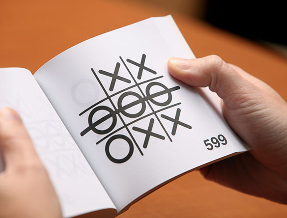 Automatic Tic Tac Toe Playing Book