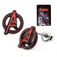 Avengers A Logo Red Stud Earrings