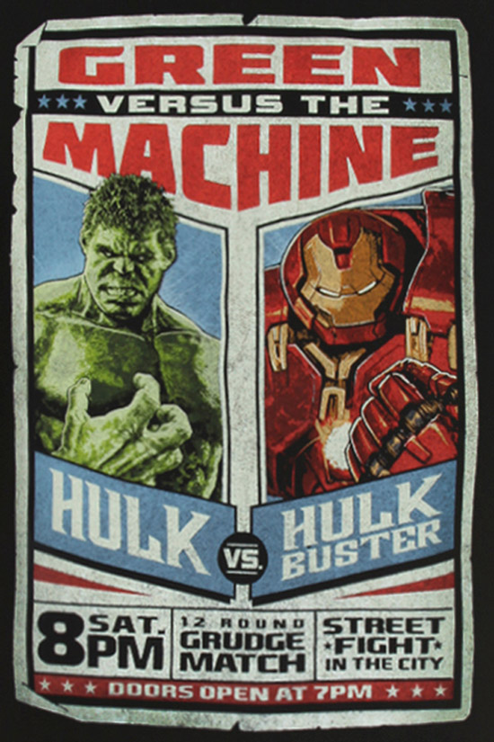 Avengers Age Of Ultron Hulk Vs Hulkbuster Shirt