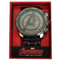 Avengers Age of Ultron Avengers Logo Gunmetal Bracelet Watch
