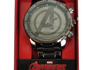 Avengers Age of Ultron Avengers Logo Gunmetal Bracelet Watch