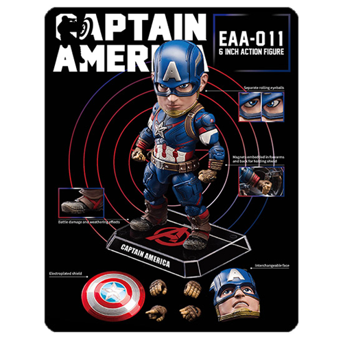 Avengers Age of Ultron Captain America Egg Attack Action Figure