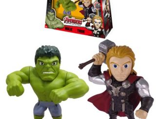 Avengers Age of Ultron Hulk vs. Thor 4-Inch Metals Die-Cast Action Figure 2-Pack