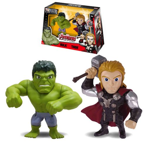 Avengers Age Of Ultron Hulk Vs Thor Metal Die Cast Action