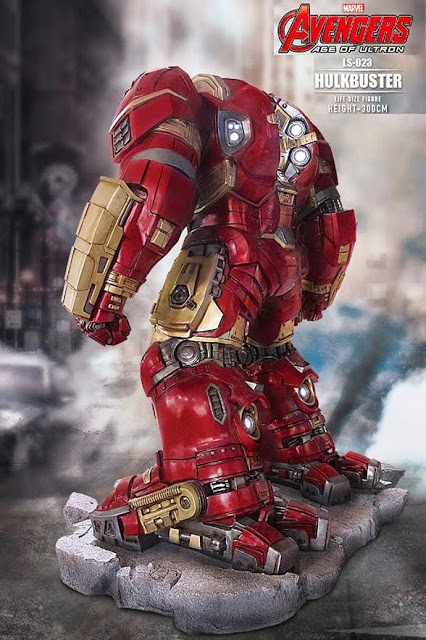 Iron Man Hulk Buster 1 1 Scale Life Size Light Up Statue