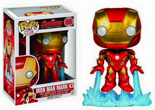 Avengers Age of Ultron Iron Man Pop Vinyl Bobble Head Figure