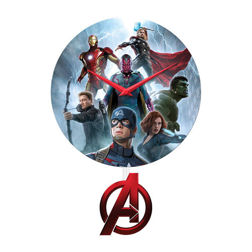 Avengers Age of Ultron Pendulum Wall Clock
