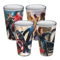 Avengers Age of Ultron Poses 16 oz. Pint Glass 4-pack