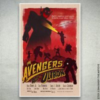 Avengers Age of Ultron Retro Poster