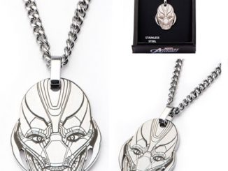 Avengers Age of Ultron Ultron Face Laser Etched Necklace