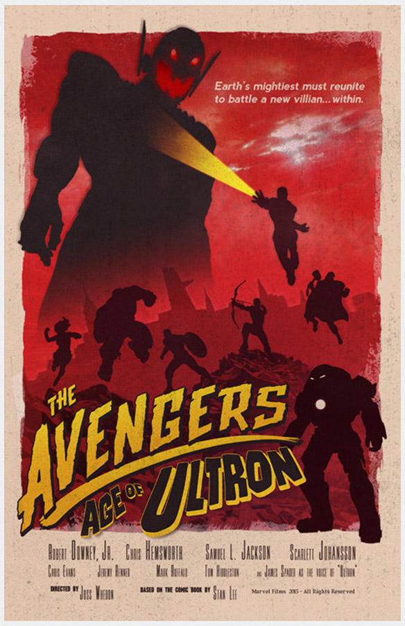 Avengers Age of Ultron Vintage Poster