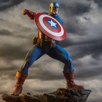 Avengers Assemble Captain America Statue 7